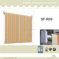 Window fabric roll up blind