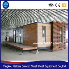 Wooden container house / glass contianer home for vacation