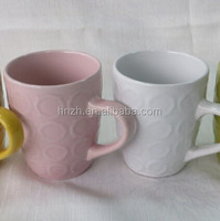 candy color ceramic coffee mug with latest embossed design hot new products for 2015