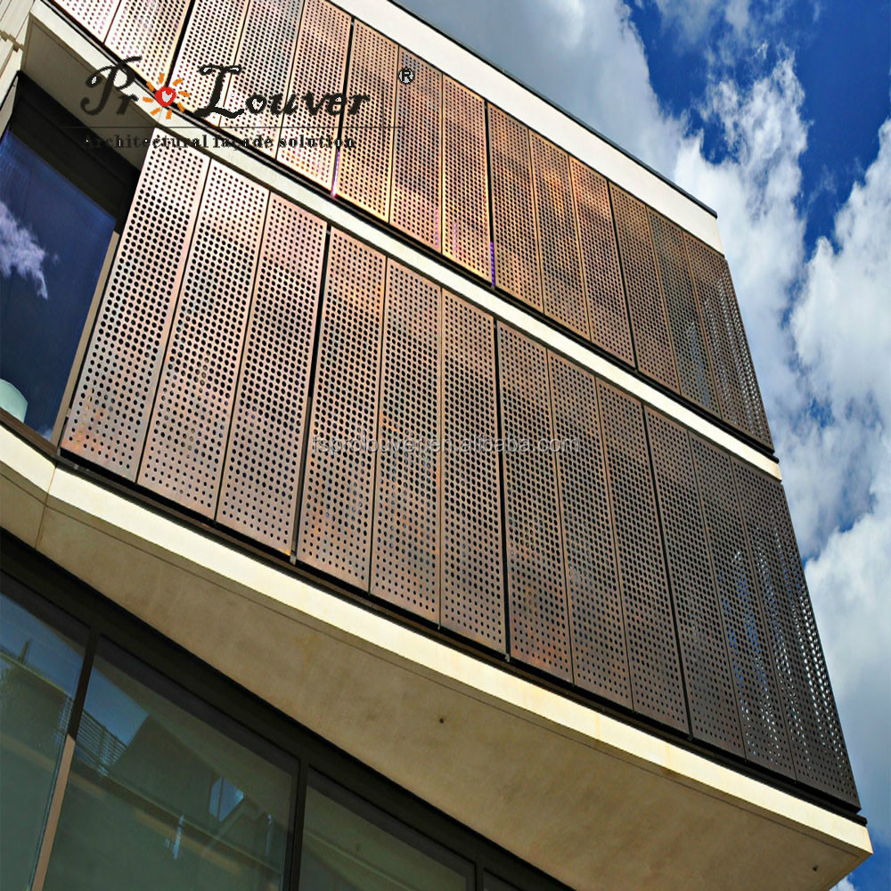 Anodized Aluminum Curtain Wall : Anodized akzonobel powder coating pvdf perforated metal