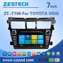 For Toyota vios Car Sat Navi headunit, Radio, Audio, Bluetooth, RDS, 3G,wifi,V-10disc 2010 2011 2012 car stereo