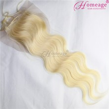 Homeage lace closure blonde 613 hair closure, silk closure 4x4