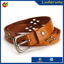 China factory real leather tool belt studs for women&men