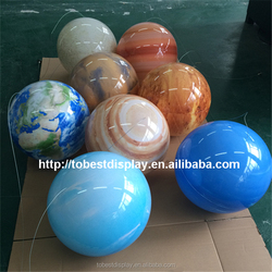 Top grade acrylic globe hanging, planet decorations, peugeot planet