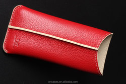 high quality DC handmade Crafted genuine Leather pouch bag for apple iphone 6 4.7inch