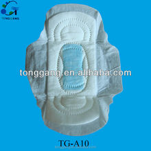 Pure cotton ultra thin sanitary pad TG-A10