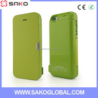 Best selling 4200mah Slim Rechargeable Portable External Leather charger case for iphone 5 5C 5S