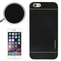 Brushed Texture Metal and Hard Hybrid Cheap Mobile Phone Case for iPhone 6