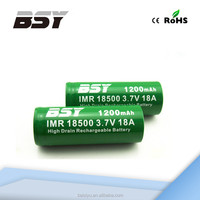 Wholesale price 3.7V 1200mAh rechargeable li ion 18500 battery pack
