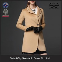 Elegant Mature Women Wear Manufacturer, Fashion Women Winter Coat Model, Ladies Wool Coat Wholesale
