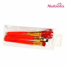 5pcs promotional makeup brushes red color