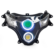 Motorcycle LED Headlight Assembly HID Projector with angel eye for Suzuki GSXR1000 2009-2015