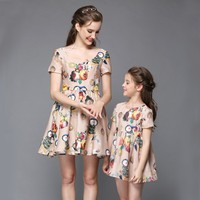 Mommy and me dresses family clothing set baby's clothing hawaiian clothing
