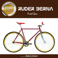 Funla Red Yellow 700C Fixed Gear complete bike