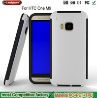 PC+TPU Prevent falls Shockproof phone case cover slim armor case for htc one m9 case