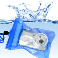 2014 Clear pvc waterproof pvc pouch for camera with String for phone, ipad, camera