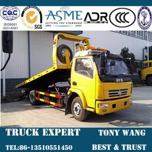 Dongfeng 3 ton cama plana tow truck, 4 x 2 tow truck venta