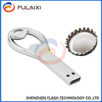 Sliver Cool opener shape usb flash drive waterproof pen drive memory stick