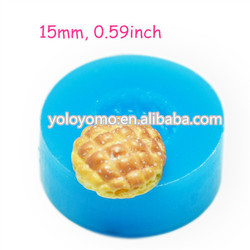 GYL281 Cross Bun / Bread Silicone Flexible Mold 15mm - Cake Decorations Charms Sugarcraft Mould, Fake Food Mould Food Safe