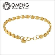 tripla perle placcato in oro palle di diamante macrame braccialetto gioielli uomini braccialetto