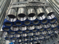 galvanized steel pipe bs1387 with socket and threaded end for water delivery or construction
