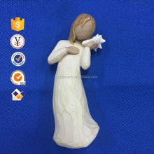 Wholesale Alibaba 55g Off-White resin statues decor items Arts and Crafts for home decorating items with CE,RoHS,SGS