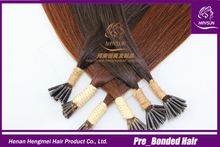Alibaba express certified Italian glue double drawn wholesale cheap remy 1g stick tip hair extensions