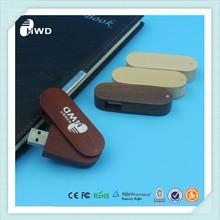 Creative swivel wood usb flash memory OEM bulk cheap usb stick 1gb 2gb 4gb thumb drive