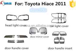 Toyota Hiace 2005-2011full chromed kits 18 pcs/set toyota hiace chrome trim accessory cars exterior accessories