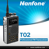 Nanfone T02 New Products Black/Blue Two Way Radio Walkie Talkie Repeater