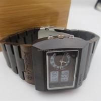 natural wood Japan movement digital wood watch men