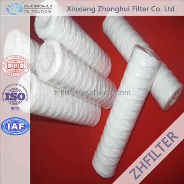 20 Inch String Wound Water Filter Cartridge For Water Treatment
