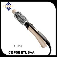 Hot air brush nylon bristles comb hair dryer soft grip handle