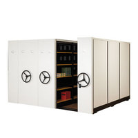 High Density Office Filing Cabinet Mechanical Mobile Shelving Storage System