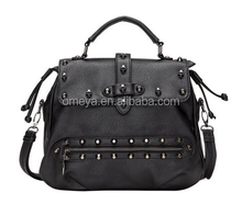 Modern Gothic Hobo Satchel Tote Handbag Purse Studded Skull Bag