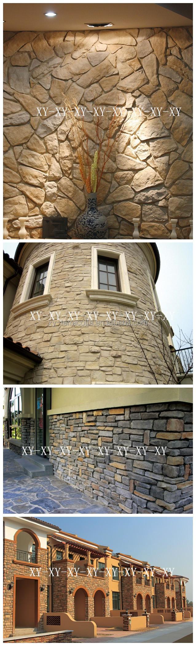 Exterieur interieur stenen muur bekleding ontwerp kunstmatige ...