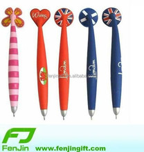 custom made rubber souvenir fridge magnet pen
