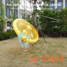 Funny Summer Beach PVC 1.6m Inflatable Lemon Inflatable Raft