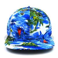 blue ocean sublimated printed 6 panel hip hop 100% acrylic baseball cap snapback cap