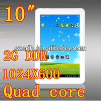 Quad Core 10 inch (16:9) IPS pc tablet 1024X600 Android 4.2 1.2GHz DDR2GB HD32GB Wifi Camera 5.0MP HDMI Tablet pcs