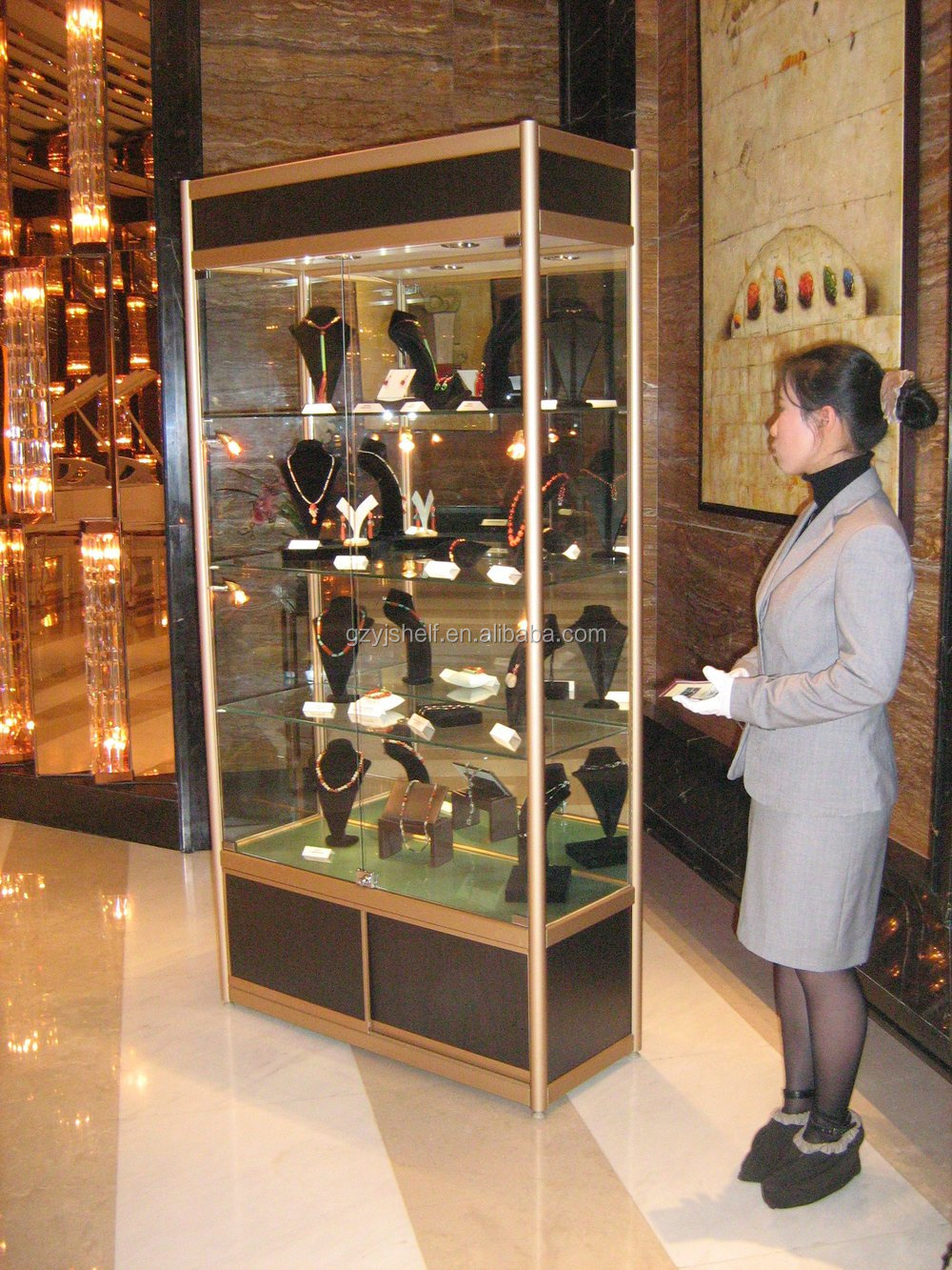 Modern Glass Display Cabinet Metal Toy Display Cabinet