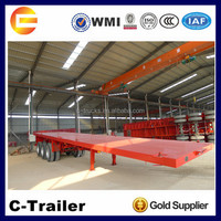 Chinese high quality 3 axles 40ft 20ft axle flat bed