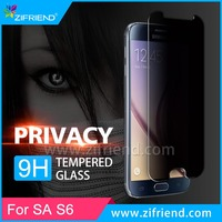 Privacy Anti Spy Tempered Glass Screen Protector for Galaxy S6