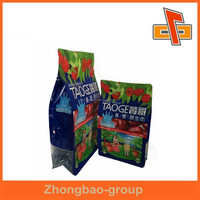 High quality print matt finish box bottom pouch for date palm packing