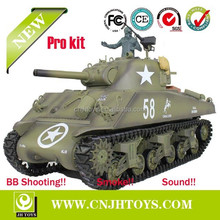 1/16 US M4A3 Sherman Tank Radio Control Airsoft Battle RC Tank Pro kit with HEAVY METAL TRACK - GEARBOX - SPROCKET