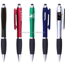 Custom Promotional Plastic Touch Screen Stylus Pen With Screen Cleaner