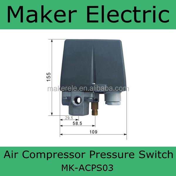 120 PSI Heavy Duty 240V 16A Auto Control Auto Load//Unload Air Compressor Pressure Switch Control Valve 90 PSI Black