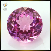 6mm round shape 100 facets synthetic red rose ruby