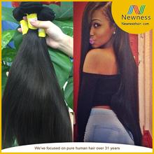 virgin brazilian hair extension electric straightening hair brush unprocessed wholesale 100% virgin brazilian hair
