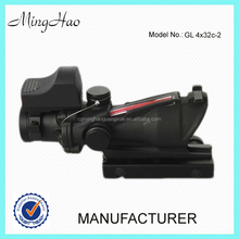 Minghao 4x32 red dot&optical control optic gun scope riflescope use for airsoft